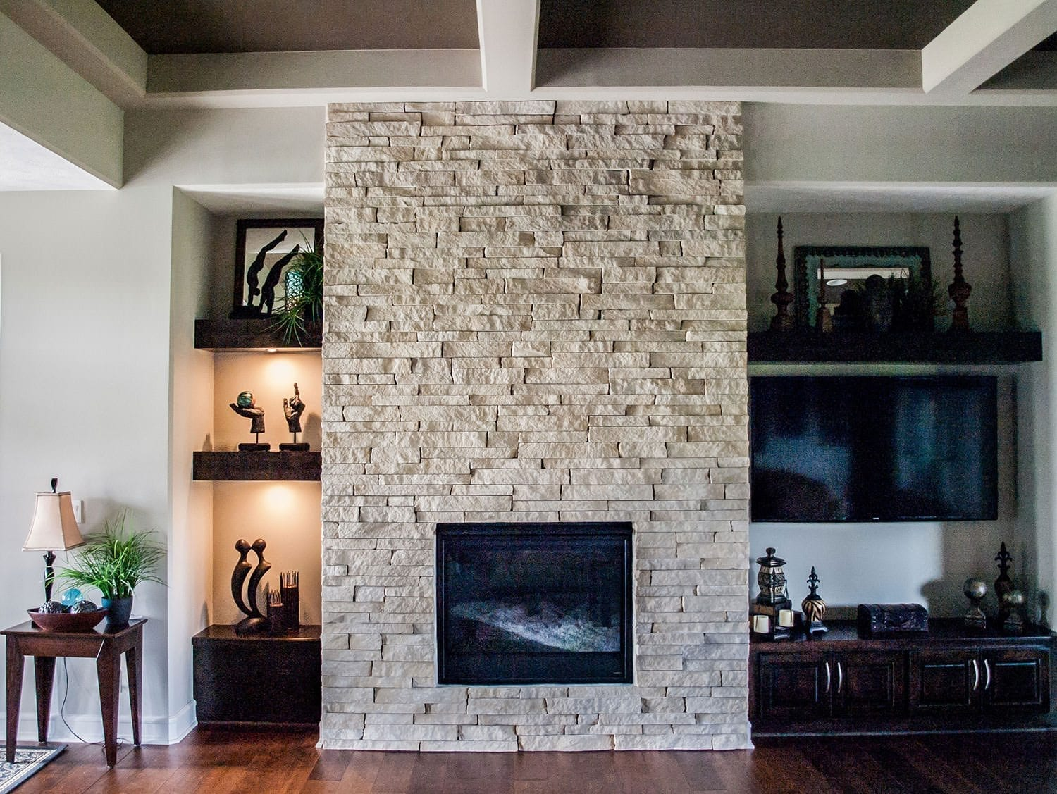 Natural Stone For Fireplace natural stone fireplace ideas - table rock company